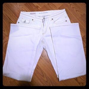 Banana Republic White 10S Boot Cut Jeans
